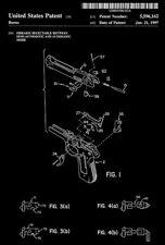 1997 - Beretta 92F M9 - Automatic Firearm Conversion - Burns - Patent Art Poster