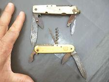 Ancien Couteau Tire Bouchon Décapsuleur Multilame Bourgey du Lac Chocolat Lyon