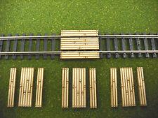 Laser Cut N Scale Custom Single Lane Timber Grade Crossing 4 - Pack