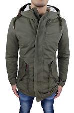 Giaccone Parka uomo invernale eskimo neve military jacket con pelliccia interna