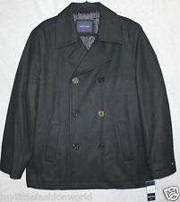 New TOMMY HILFIGER Men's Wool Blend Jacket Coat Black Dark Blue  L NWT