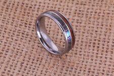 Koa Wood Abalone Shell inlay Wedding Band Ring womens ring mens ring