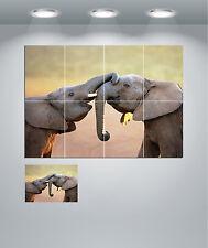 Cute Baby Elephants Giant Wall Art Poster Print