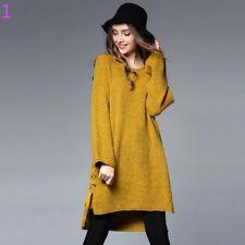 vestitino abito corto felpa maxi maglia morbida giallo comoda morbido 3926