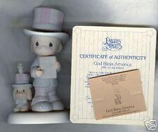 Precious Moments Figurine 102938 God Bless America Coa
