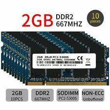 20GB 10x 2GB 1GB DDR2 PC2-5300S 667MHz Blue CL5 200Pin SODIMM Laptop Memory LOT