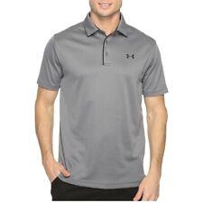 New Under Armour Men Tshirts Tech Polo Short Sleeve Shirts Graphite Gray
