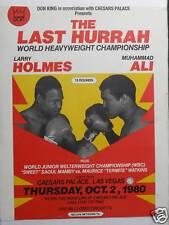 1980 Heavyweight Championship Bout Poster Holmes vs Ali