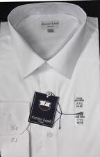 Men's Cotton Dress Shirt Slim Fit Design , Non-Iron White, Black By FortinoLandi