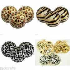 Capiz Large Balls Orbs Spheres Wild African Safari Giraffe Tiger Leopard Zebra