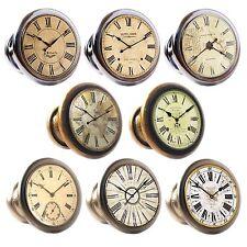 Zinc Alloy Knobs Clocks 30mm Cupboard Drawer Door Handles Decorated