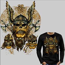 4205 LS Camiseta VIKING VIKINGO ODIN Gótico Celta Thor CELTAS Edad Media