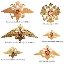 Russian USSR Army Military Uniform Imperial Eagle Hat Cap Beret Metal Pin Badge