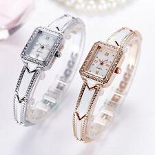 Ladies Sleek Square Roman Numeral Stainless Steel Back Wrist Watch