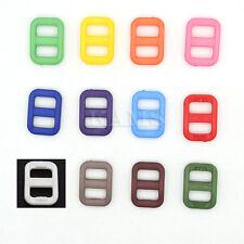 """Colorful 3/8"""" Slider Tri-Glide Adjust Buckles Backpack Straps Webbing 10mm"""