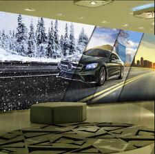 3D Snow Tree Black Car Road 046 Wall Paper Wall Print Decal Wall AJ WALLPAPER CA