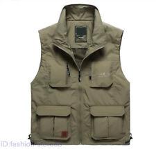 New Men's Multi-pocket coat Fishing Vest Quick-drying Outdoor jacket waistcoat