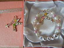 Personalised Bracelet Tinkerbell Gift Box or Gift Bag