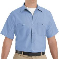 Brand New Red Kap Men's Cotton Work Shirt Short Sleeve SC20 Size S-4XL