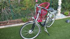 Kinderfahrradsitz Fahrradsitz rot Fahrradkorb vorne Lenkerkorb  Weidenkorb Weide