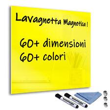 Lavagna Lavagnetta Magnetica Cancellabile in vetro temperato Giallo Limone