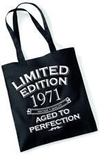 46th Regalo Di Compleanno Borsa Tote Shopping Limited Edition 1971 invecchiato a puntino Mam