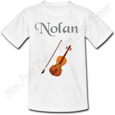 T-shirt Enfant Violon avec Prénom Personnalisé