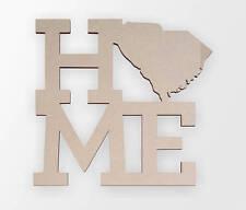 Wooden Sign Home South Carolina - Wall hanging, Cutout, Wall Decor, Home Decor