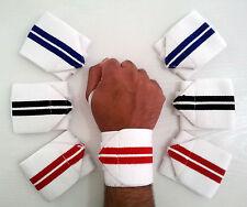Potenza Peso Sollevamento Polso Wrap Supporto Palestra Training FIST Cinturino 13 Pollici Bianco X2