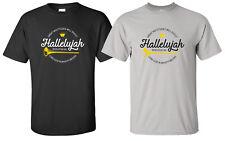 """Hallelujah"" T-Shirt christian church gospel choir praise music worship sing"