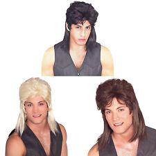 Mullet Longhair Men's Costume Wig Adult Redneck Hillbilly Multiple Colors
