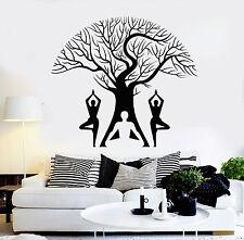 Vinyl Wall Decal Yoga Pose Tree Meditation Room Buddhism Stickers Mural (ig4621)
