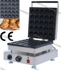 Commercial Nonstick Electric 25pcs Donut Ball Waffle Maker Iron Baker Machine
