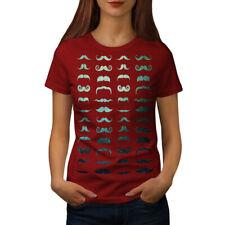 Wellcoda Mustache Stylish Fashion Womens T-shirt, Hair Casual Design Printed Tee