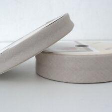 Linen  Bias Binding - 18mm -   Beige - Cotton Fabiric Folded Trim