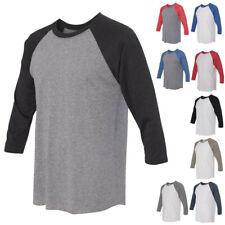 Next Level Tees Mens Womens Unisex Tri-Blend Three-Quarter Sleeve Raglan T Shirt