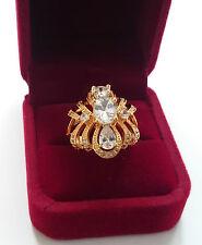Stunning 18k Gold Plated simulated Diamond Ring, (Anniversary, Engagement, Gift)