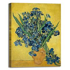 Van Gogh vaso con iris design quadro stampa tela dipinto telaio arredo casa