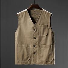 Men Cargo Waistcoat Pocket Gilet Combat Army Vest Sleeveless Plus Size Classic