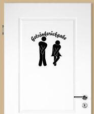 B20   Aufkleber Getränkerückgabe Wandtattoo Pipi Lounge WC Bad Badezimmer