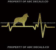 HEART BEAT LINE DOG BELGIAN SHEEPDOG Puppy Paw adoption Rescue CAR METAL DECAL