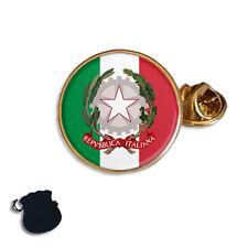 ITALY ITALIAN FLAG COAT OF ARMS ENAMEL LAPEL PIN BADGE GIFT
