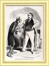 MENDICANTI:VENDITORE DI LIBRI. Caricatura di Bertall. Satira. Stampa Antica.1861