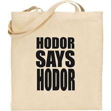 Juego de Tronos-Hodor dice Hodor Bran Stark Got Bolso de algodón bolso de compras