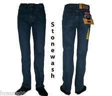 MENS STONEWASH  REGULAR FIT DENIM JEANS TROUSERS ,  28 up to 50 leg length 29
