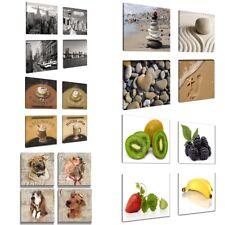 Bilder Sets 4 Teile a 20x20cm verschiedene Motive Leinwand Markenware 1588 D1