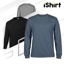 ADULTS LONG SLEEVE COTTON PLAIN T-SHIRT | CREW NECK BLANK TEES | CLASS FIT