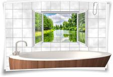 Fliesenaufkleber Fliesenbild Fliesen Wasser Fluss Natur Deko Aufkleber Bad WC
