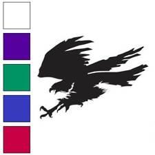 Hawk Falcon Eagle Decal Sticker Choose Color + Size #258