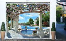 3D Piscina Lusso 6 Garage Porta Stampe Parete Decorazione Murale AJ WALLPAPER IT
